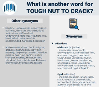 tough nut to crack, synonym tough nut to crack, another word for tough nut to crack, words like tough nut to crack, thesaurus tough nut to crack