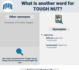 tough nut, synonym tough nut, another word for tough nut, words like tough nut, thesaurus tough nut