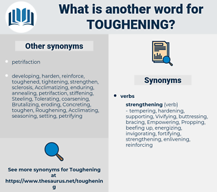 Toughening, synonym Toughening, another word for Toughening, words like Toughening, thesaurus Toughening