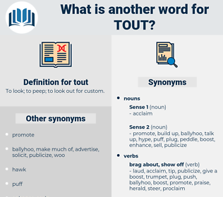 tout, synonym tout, another word for tout, words like tout, thesaurus tout
