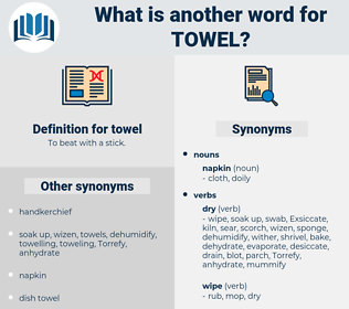 towel, synonym towel, another word for towel, words like towel, thesaurus towel