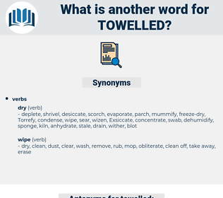 towelled, synonym towelled, another word for towelled, words like towelled, thesaurus towelled