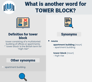 tower block, synonym tower block, another word for tower block, words like tower block, thesaurus tower block