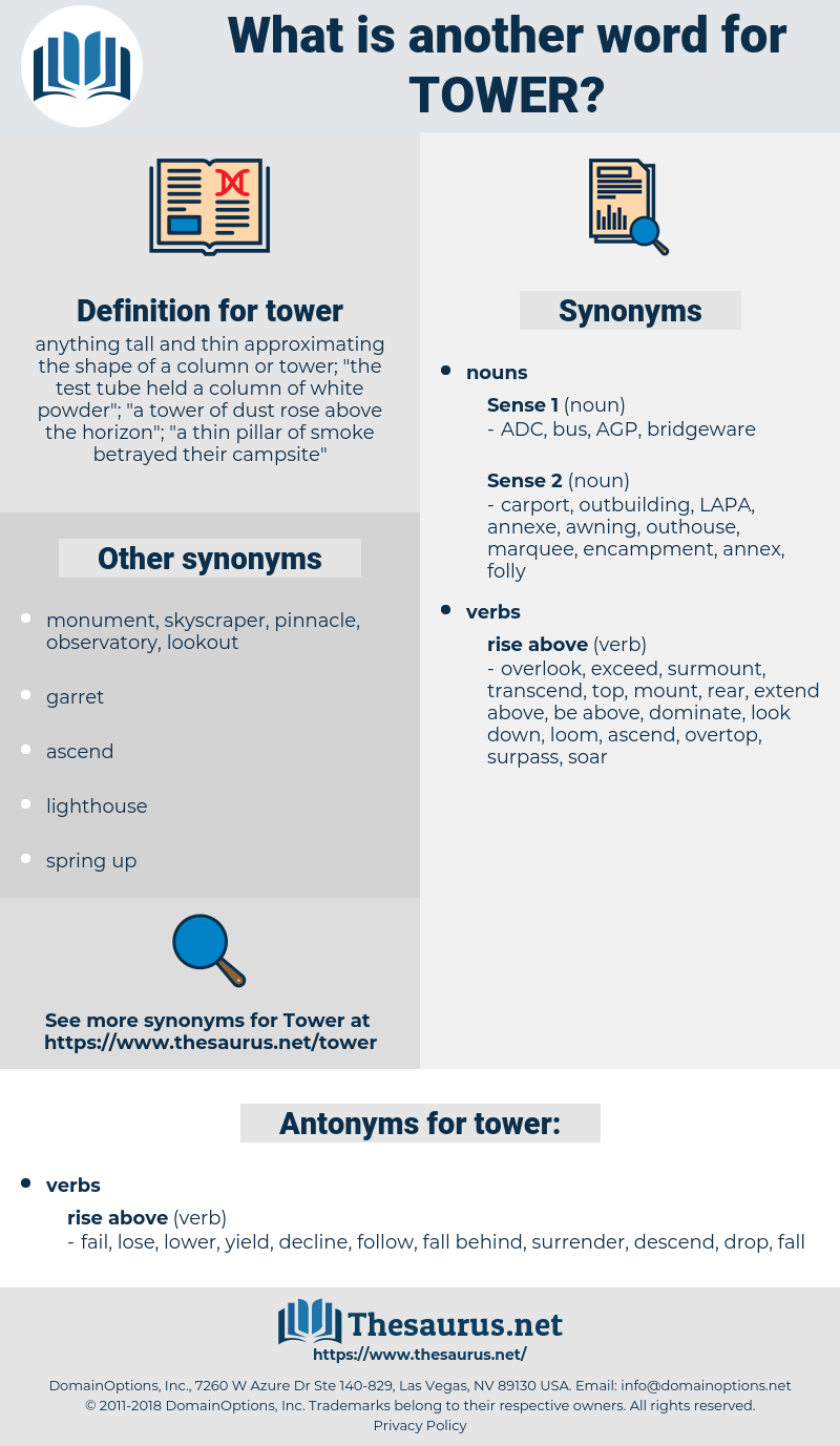 tower, synonym tower, another word for tower, words like tower, thesaurus tower