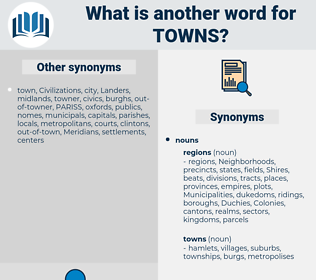 towns, synonym towns, another word for towns, words like towns, thesaurus towns