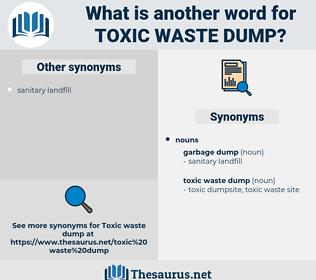 toxic waste dump, synonym toxic waste dump, another word for toxic waste dump, words like toxic waste dump, thesaurus toxic waste dump