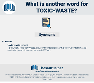 toxic waste, synonym toxic waste, another word for toxic waste, words like toxic waste, thesaurus toxic waste