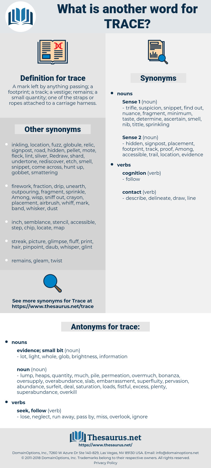 trace, synonym trace, another word for trace, words like trace, thesaurus trace