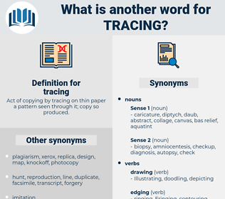 tracing, synonym tracing, another word for tracing, words like tracing, thesaurus tracing
