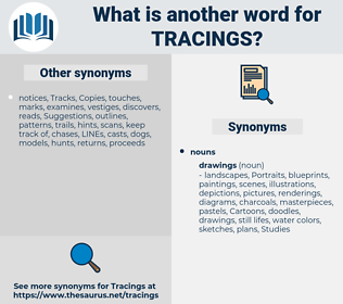 tracings, synonym tracings, another word for tracings, words like tracings, thesaurus tracings