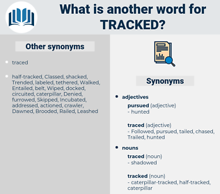 tracked, synonym tracked, another word for tracked, words like tracked, thesaurus tracked