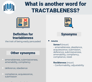 tractableness, synonym tractableness, another word for tractableness, words like tractableness, thesaurus tractableness
