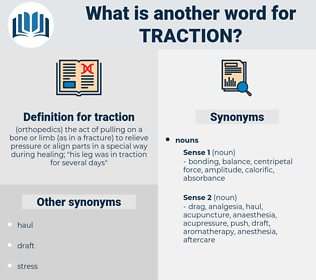 traction, synonym traction, another word for traction, words like traction, thesaurus traction
