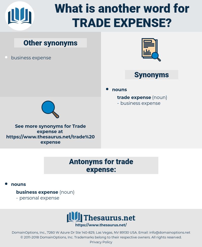 trade expense, synonym trade expense, another word for trade expense, words like trade expense, thesaurus trade expense