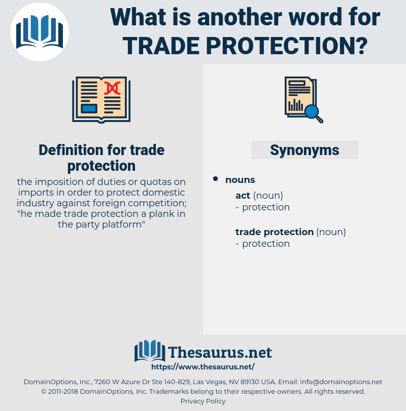 trade protection, synonym trade protection, another word for trade protection, words like trade protection, thesaurus trade protection