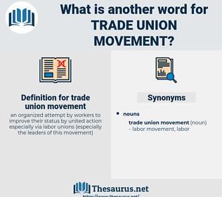 trade union movement, synonym trade union movement, another word for trade union movement, words like trade union movement, thesaurus trade union movement