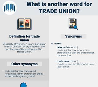 trade union, synonym trade union, another word for trade union, words like trade union, thesaurus trade union
