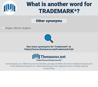 trademark, synonym trademark, another word for trademark, words like trademark, thesaurus trademark