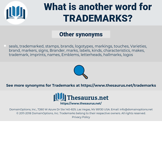 Trademarks, synonym Trademarks, another word for Trademarks, words like Trademarks, thesaurus Trademarks
