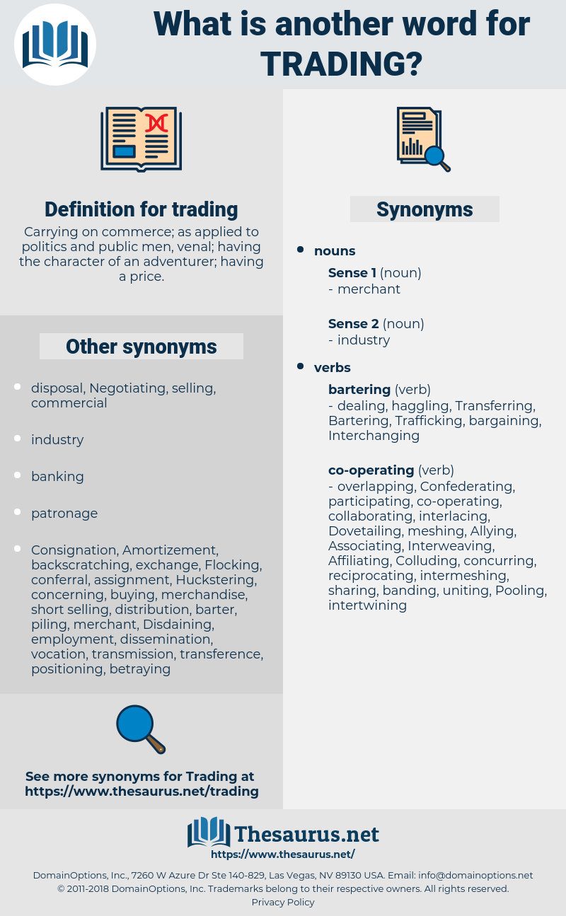trading, synonym trading, another word for trading, words like trading, thesaurus trading