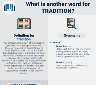 tradition, synonym tradition, another word for tradition, words like tradition, thesaurus tradition