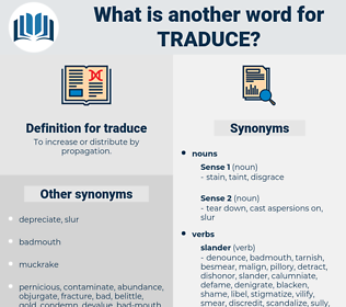 traduce, synonym traduce, another word for traduce, words like traduce, thesaurus traduce