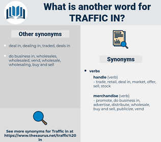 traffic in, synonym traffic in, another word for traffic in, words like traffic in, thesaurus traffic in