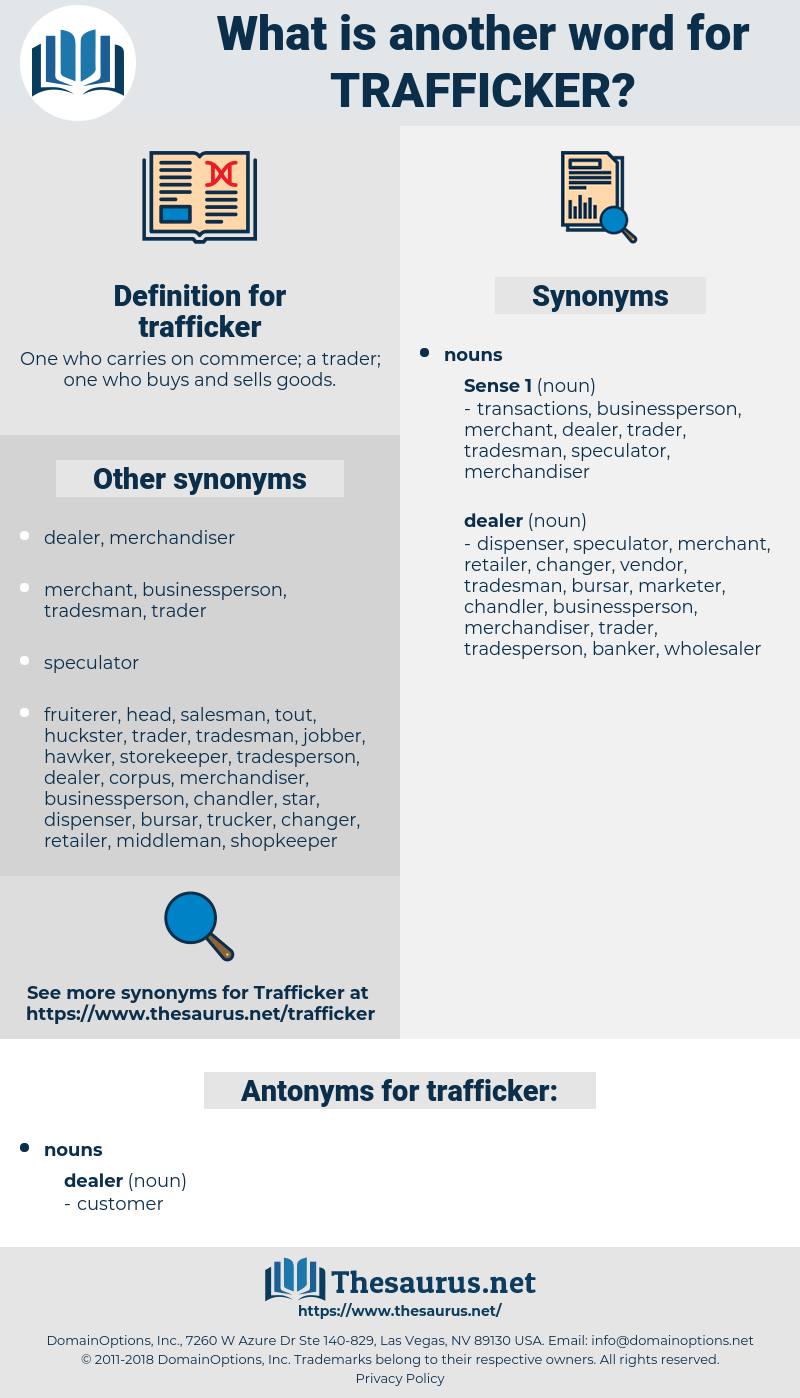 trafficker, synonym trafficker, another word for trafficker, words like trafficker, thesaurus trafficker