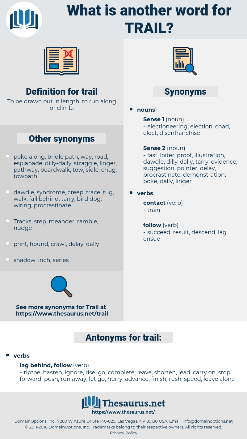 trail, synonym trail, another word for trail, words like trail, thesaurus trail