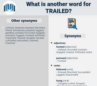 Trailed, synonym Trailed, another word for Trailed, words like Trailed, thesaurus Trailed