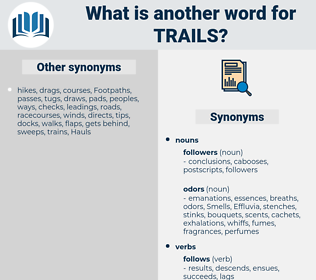 trails, synonym trails, another word for trails, words like trails, thesaurus trails