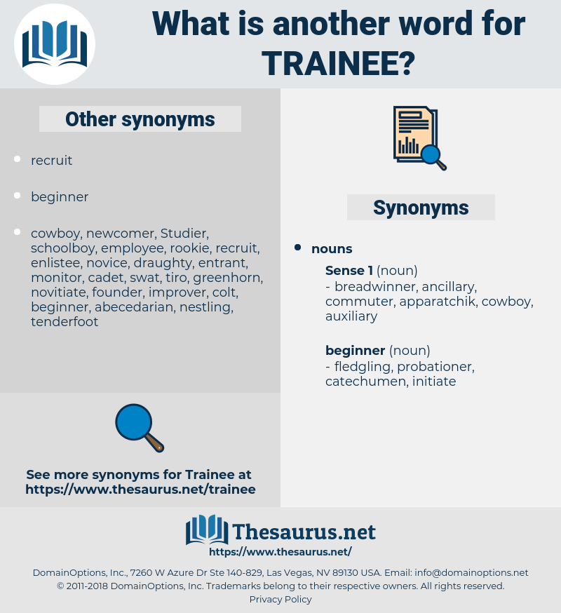 trainee, synonym trainee, another word for trainee, words like trainee, thesaurus trainee
