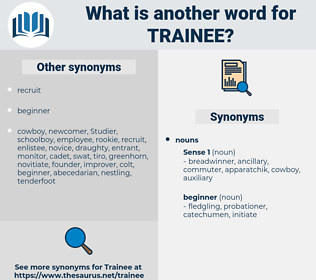 trainee, synonym trainee, another word for trainee, words like trainee, thesaurus trainee