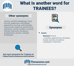trainees, synonym trainees, another word for trainees, words like trainees, thesaurus trainees