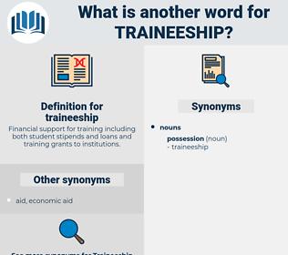 traineeship, synonym traineeship, another word for traineeship, words like traineeship, thesaurus traineeship