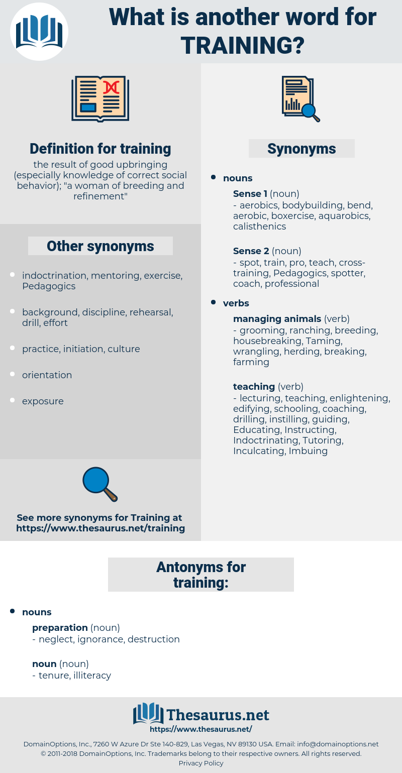 training, synonym training, another word for training, words like training, thesaurus training