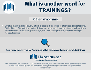 Trainings, synonym Trainings, another word for Trainings, words like Trainings, thesaurus Trainings