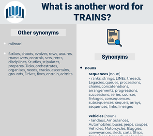 trains, synonym trains, another word for trains, words like trains, thesaurus trains