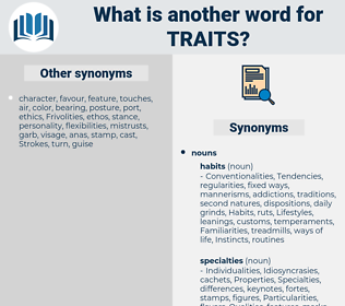 traits, synonym traits, another word for traits, words like traits, thesaurus traits