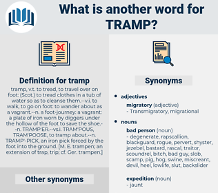 tramp, synonym tramp, another word for tramp, words like tramp, thesaurus tramp