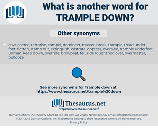 trample down, synonym trample down, another word for trample down, words like trample down, thesaurus trample down