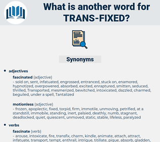 trans fixed, synonym trans fixed, another word for trans fixed, words like trans fixed, thesaurus trans fixed