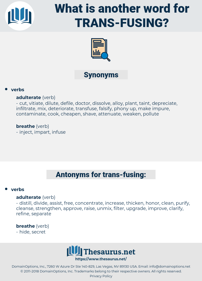 trans fusing, synonym trans fusing, another word for trans fusing, words like trans fusing, thesaurus trans fusing