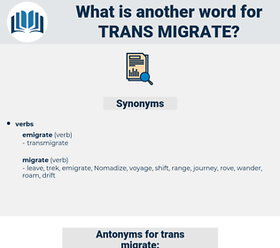 trans migrate, synonym trans migrate, another word for trans migrate, words like trans migrate, thesaurus trans migrate