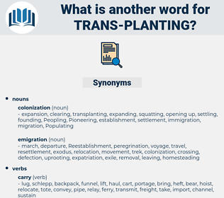 trans planting, synonym trans planting, another word for trans planting, words like trans planting, thesaurus trans planting