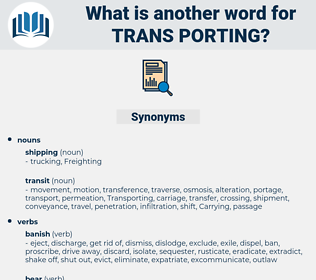 trans-porting, synonym trans-porting, another word for trans-porting, words like trans-porting, thesaurus trans-porting