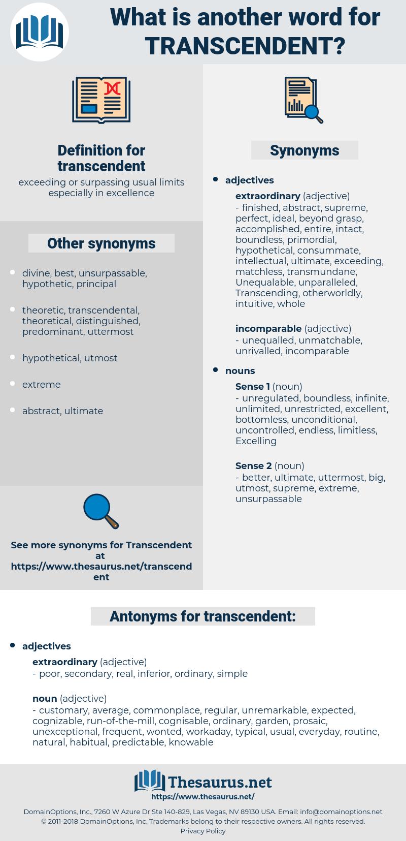 transcendent, synonym transcendent, another word for transcendent, words like transcendent, thesaurus transcendent