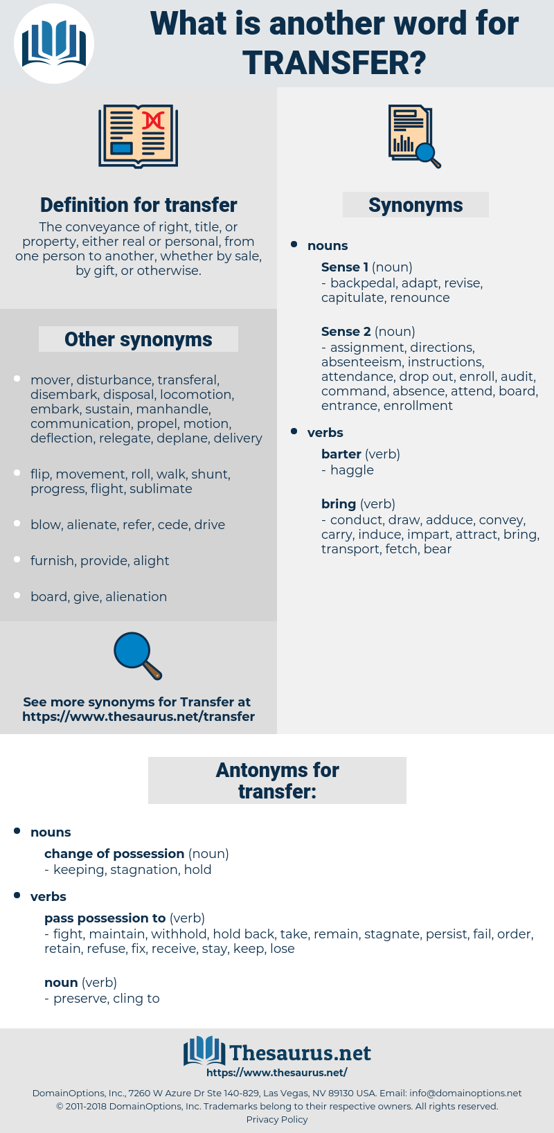 transfer, synonym transfer, another word for transfer, words like transfer, thesaurus transfer
