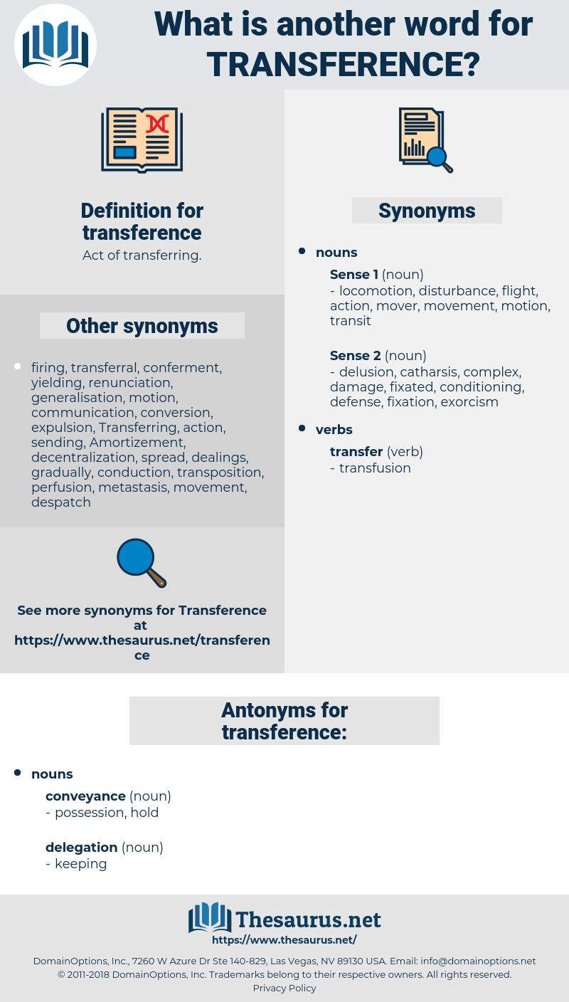 transference, synonym transference, another word for transference, words like transference, thesaurus transference