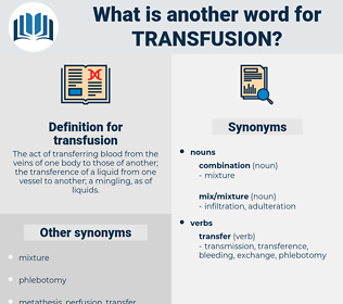 transfusion, synonym transfusion, another word for transfusion, words like transfusion, thesaurus transfusion